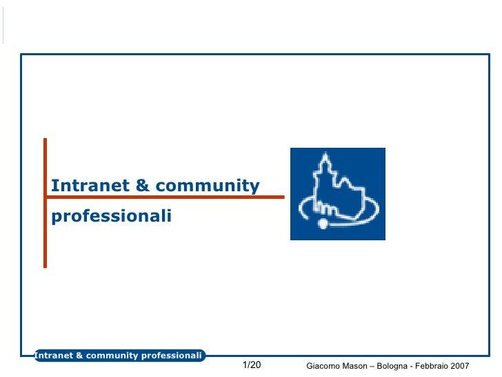 Intranet & community professionali