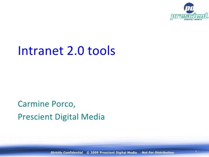 Intranet 2 0 Tools