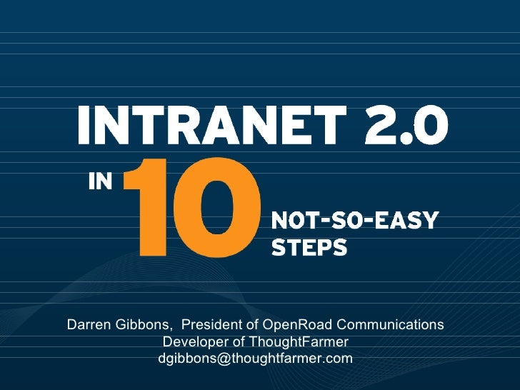 Intranet 2.0 in 10 not so easy steps