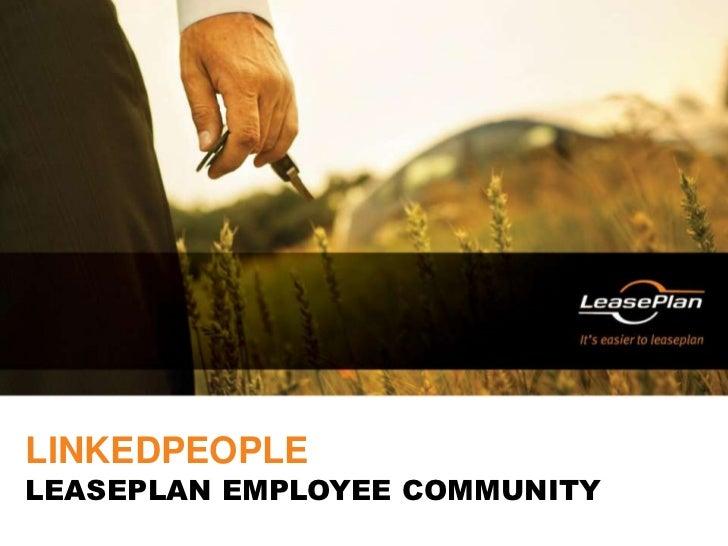LinkedPeople<br />LeasePlan employee community<br />