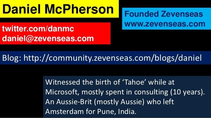 Daniel McPherson                  Founded Zevenseas                                  www.zevenseas.comtwitter.com/danmcdan...