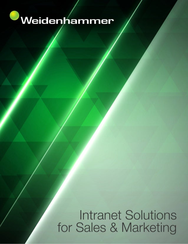 Intranet Solutions for Sales and Marketing Overview An organization's sales and marketing efforts are closely aligned with...
