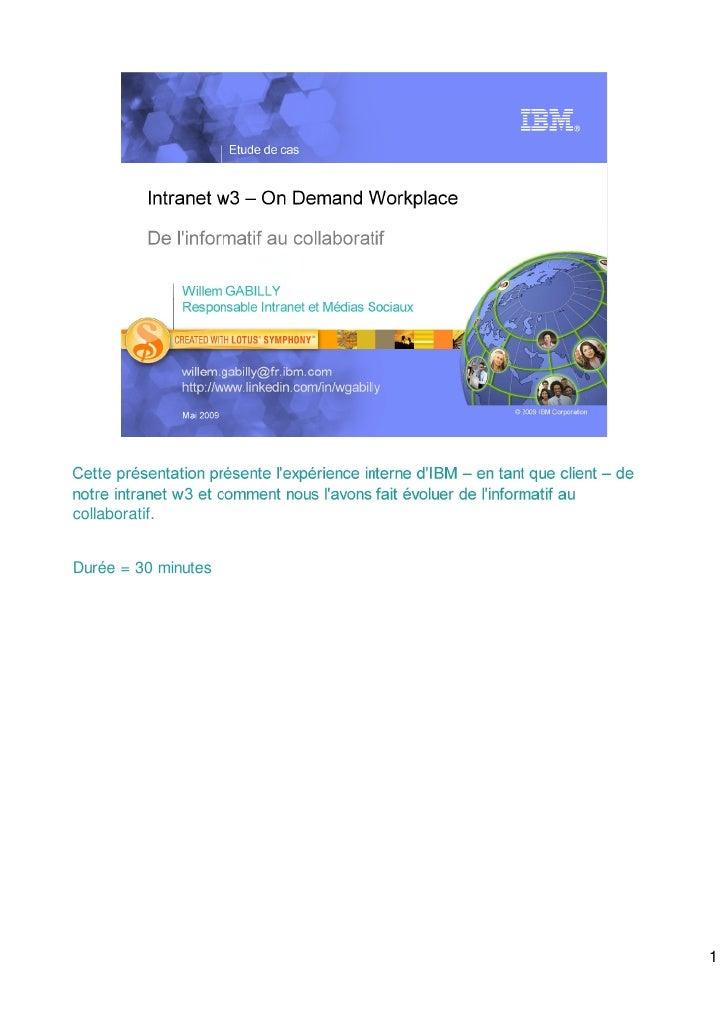 Intranet w3 – On Demand Workplace Spk