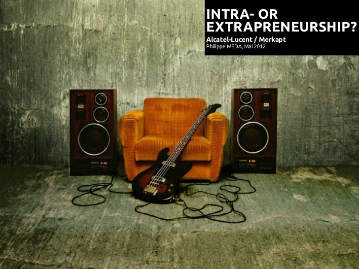 Intrapreneurship or Extrapreneurship?