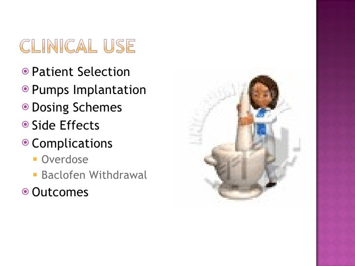 Intrathecal baclofen ~ Baclofen Withdrawal Symptoms