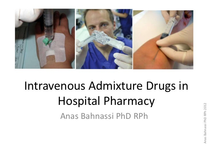 Hospital Pharmacy: Lecture Four