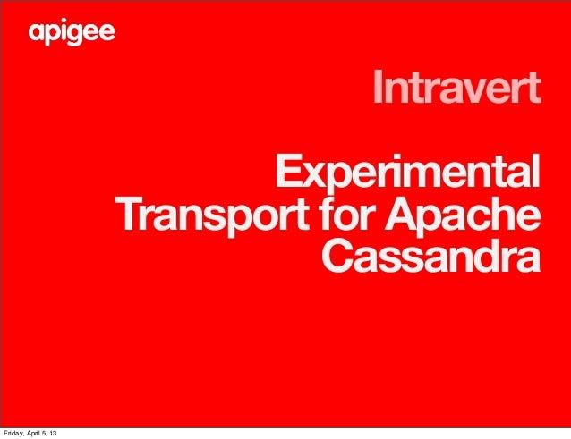 Intravert                             Experimental                      Transport for Apache                              ...