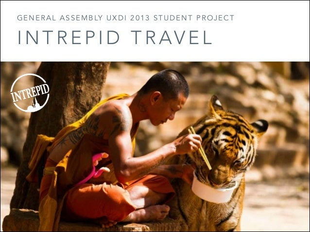 Intrepid travel UX student project