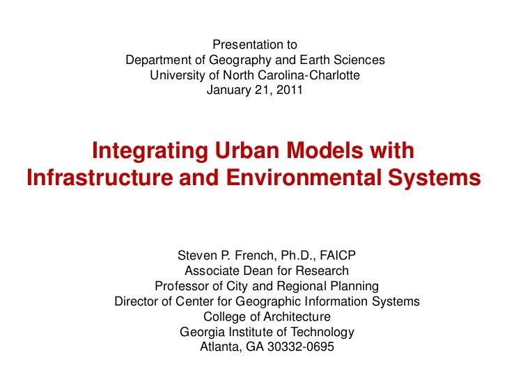 Presentation to<br />Department of Geography and Earth Sciences<br />University of North Carolina-Charlotte<br />January 2...
