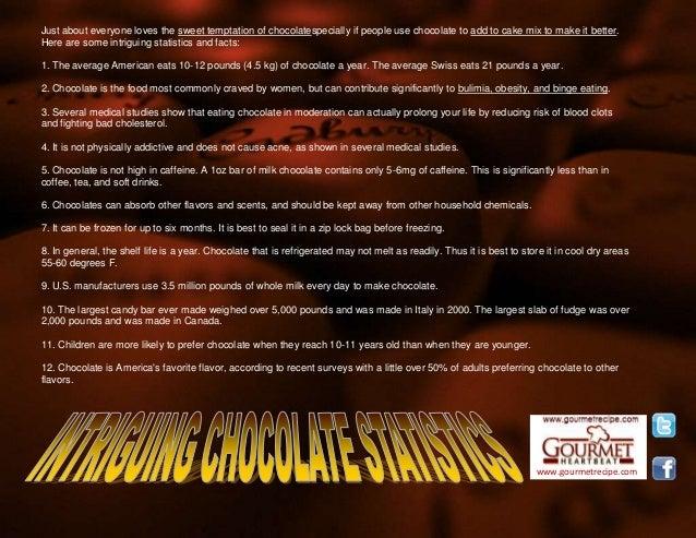 Intriguing chocolate statistics