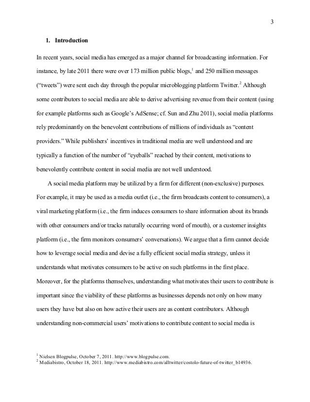 Research paper on social networking