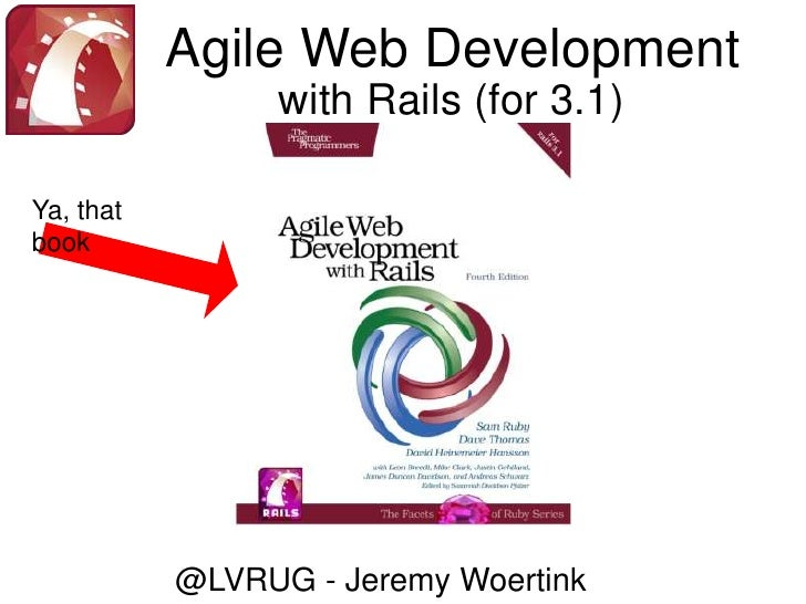 Agile Web Development<br />with Rails (for 3.1)<br />Ya, that book<br />@LVRUG - Jeremy Woertink<br />