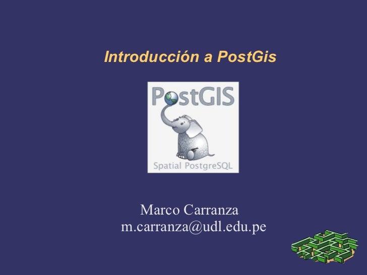 Introdución a PostGis