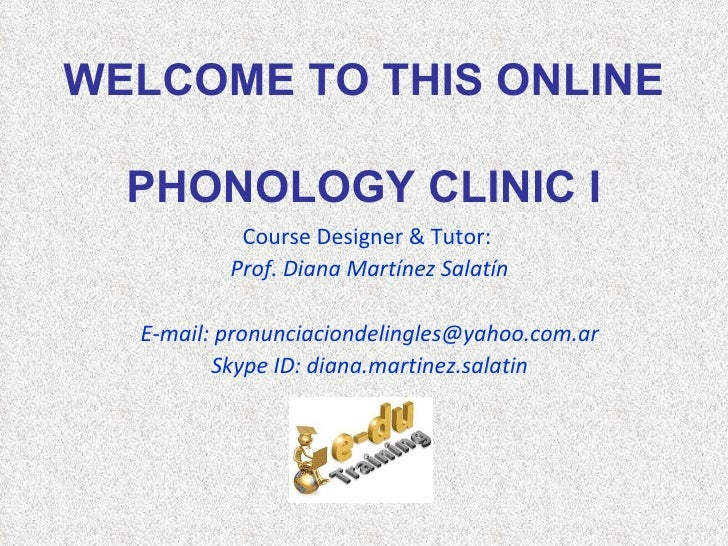 Online Phonology Clinic I - Tour