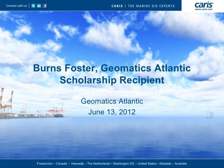 Burns Foster: GANS Scholarship Recipient; CARIS: A Description