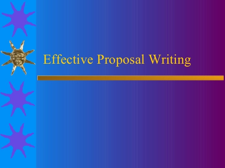 Writing the intro for your proposal