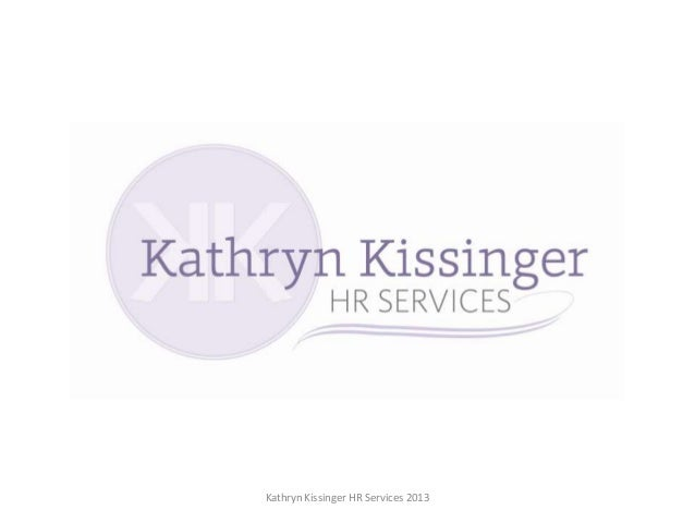 Kathryn Kissinger HR Services 2013