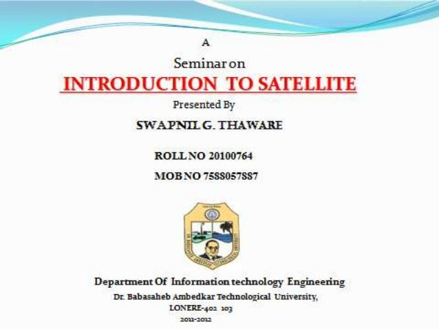 INTRODUCTION TO SATELLITE