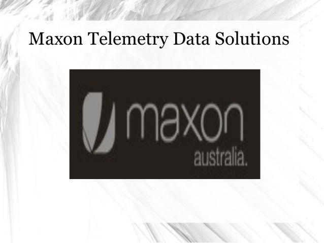 Maxon Telemetry Data Solutions
