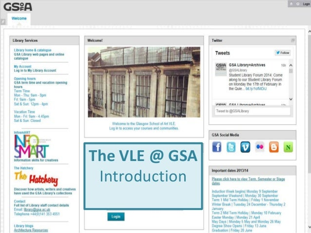 The VLE @ GSA Introduction