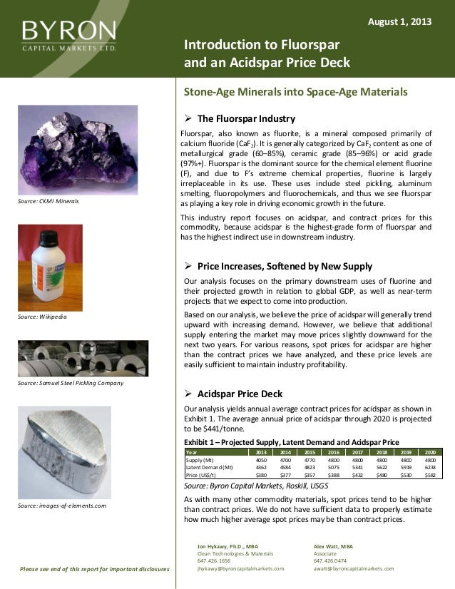 Jon Hykawy, Ph.D., MBA Clean Technologies & Materials 647.426.1656 jhykawy@byroncapitalmarkets.com Alex Watt, MBA Associat...