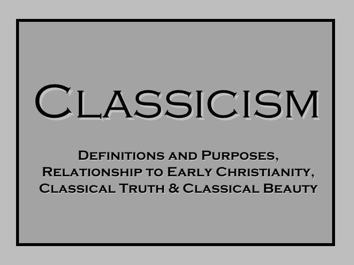 Intro Classicism