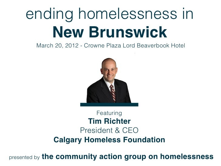 Ending Homelessness in NB - Within Reach?