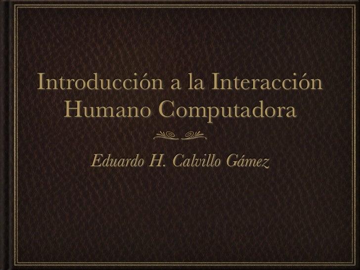 Semana 8: Introducción a IHC
