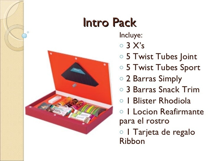 Intro Pack <ul><li>Incluye: </li></ul><ul><li>3 X's </li></ul><ul><li>5 Twist Tubes Joint </li></ul><ul><li>5 Twist Tubes ...