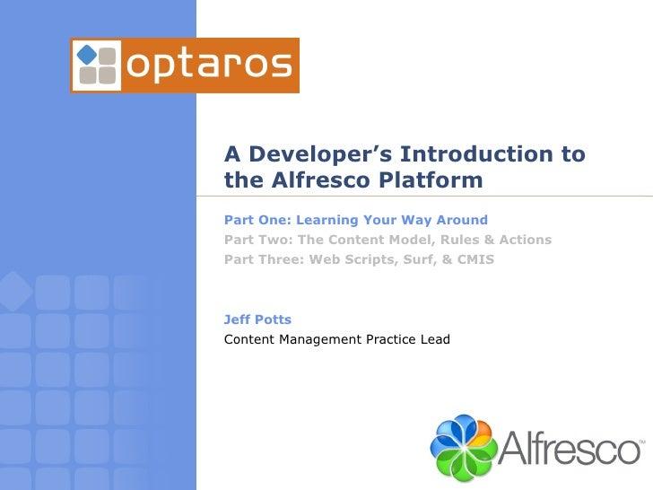 Intro To Alfresco Part 1