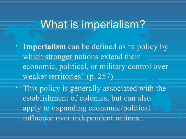 American Imperialism?