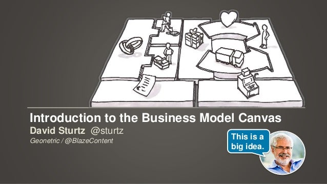 Introduction to the Business Model Canvas