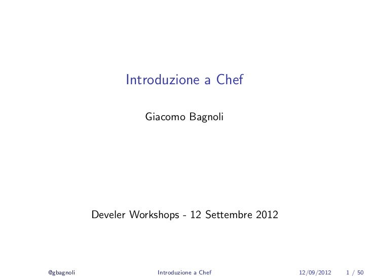Intro to Chef