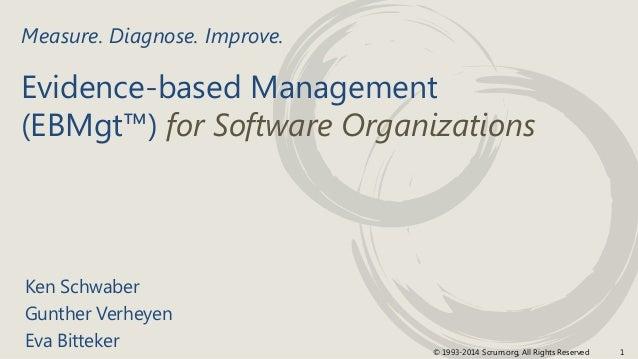 1© 1993-2014 Scrum.org, All Rights Reserved Evidence-based Management (EBMgt™) for Software Organizations Ken Schwaber Gun...
