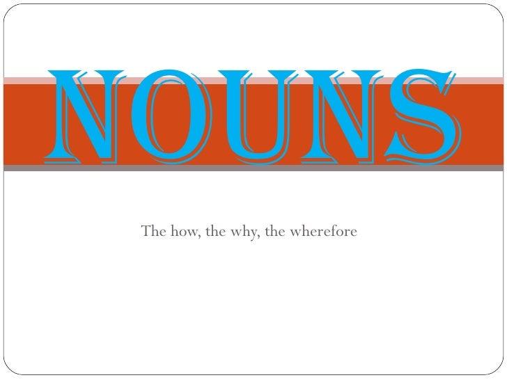 Intro To English Nouns
