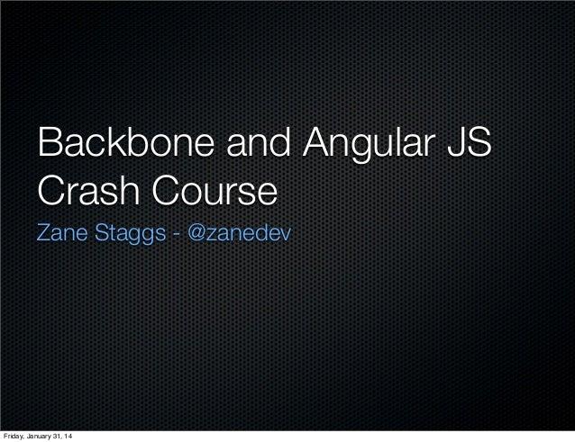 Intro to-html-backbone-angular