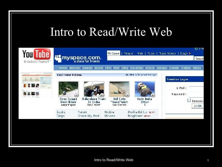 Intro to Read/Write Web  Intro to Read/Write Web