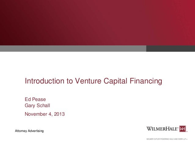 Introduction to Venture Capital Financing