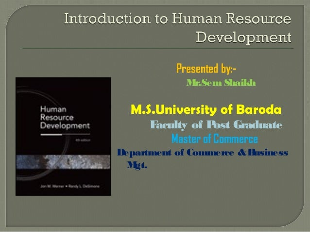 Introduction to Human Resource Develpoment