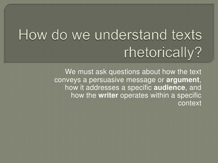 Intro. To Rhetoric Presentation