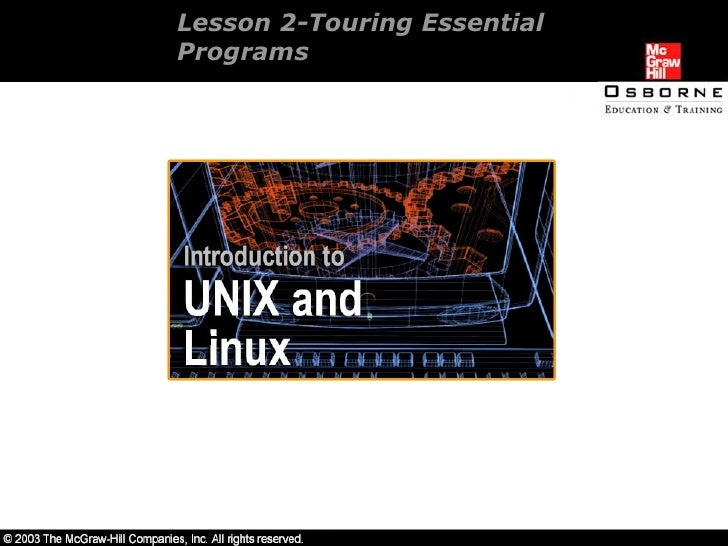 Lesson 2-Touring Essential  Programs