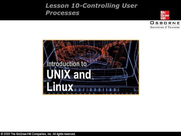 intro unix/linux 10