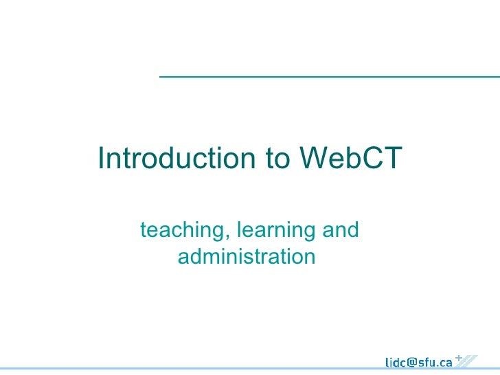 Intro Webct