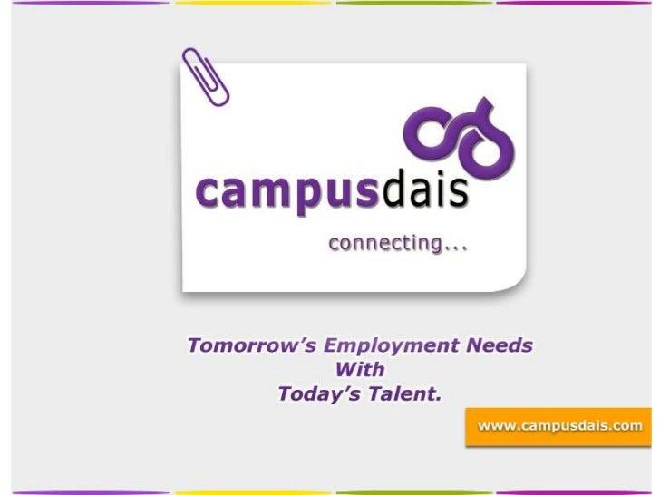 Campusdais college company connection
