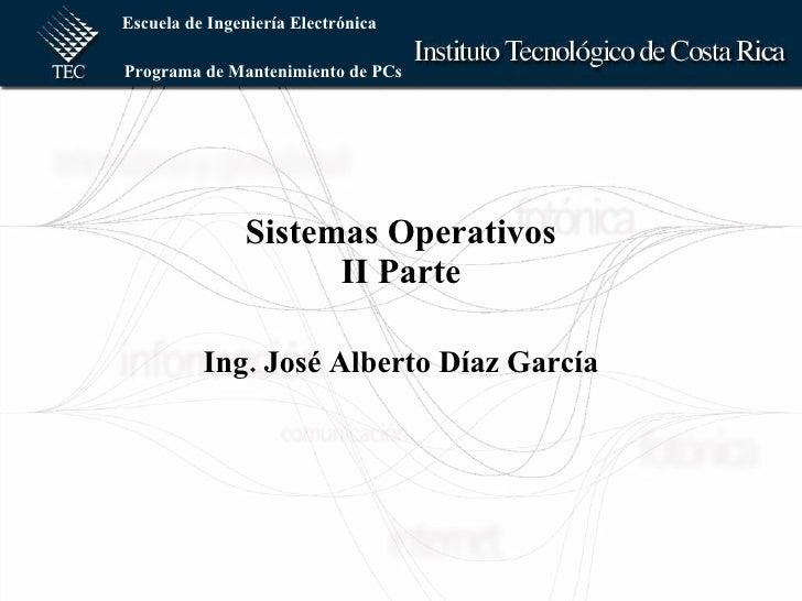Introducción a los Sistemas Operativos II PARTE