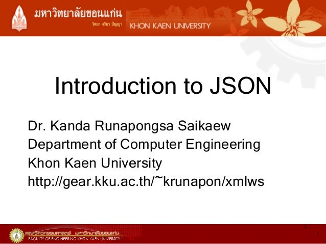 Introduction to JSON