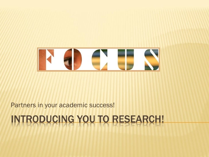 Partners in your academic success!