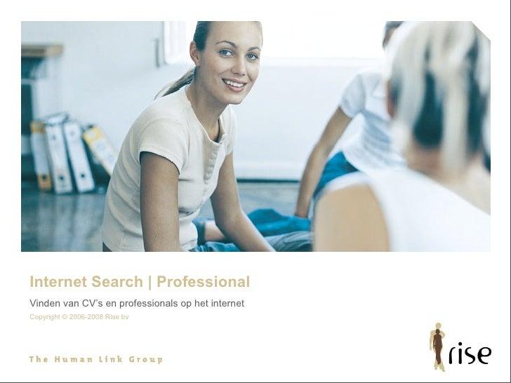 Intro Rise Internet Search Professional