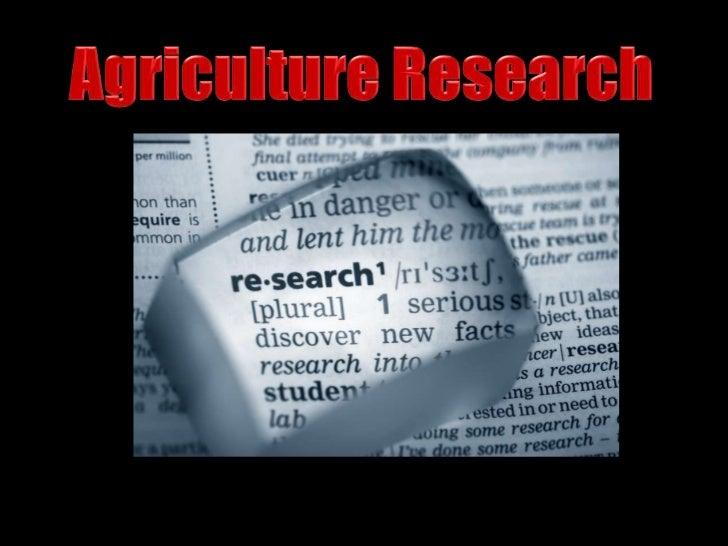 Research Agencies