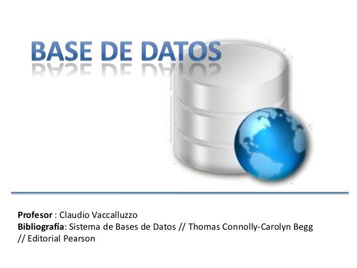Intro base de datos